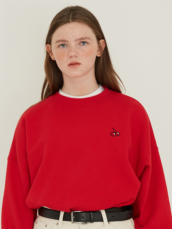 SMALL CHERRY SWEATSHIRT HS [RED]