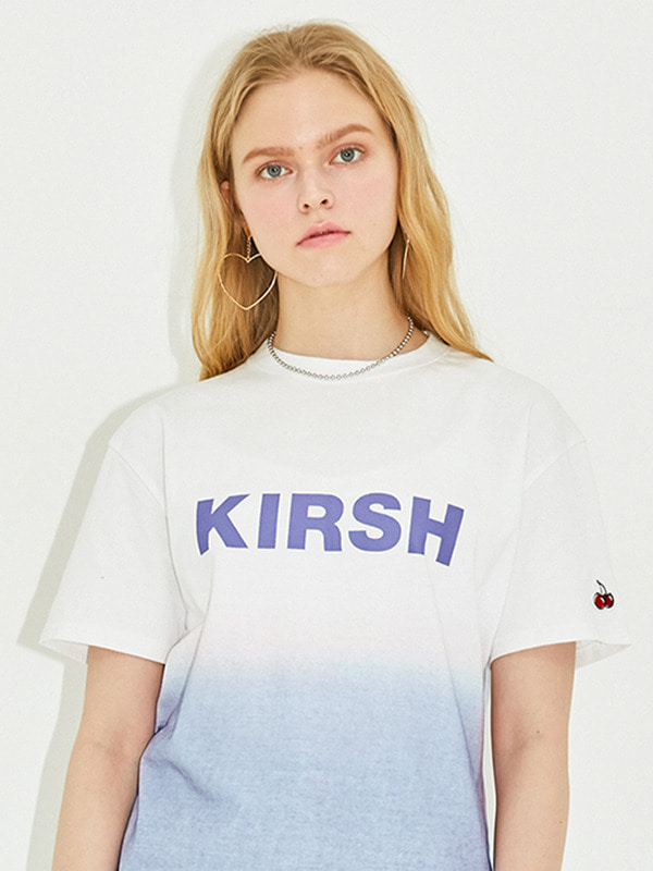 KIRSH LOGO T-SHIRT HS [BLUE]