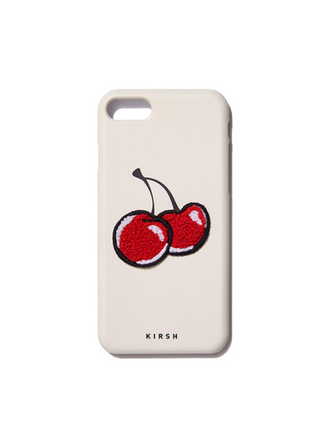 BIG CHERRY PHONE CASE HA [IVORY]