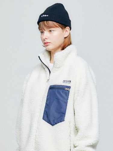 FLEECE JACKET HA [IVORY]