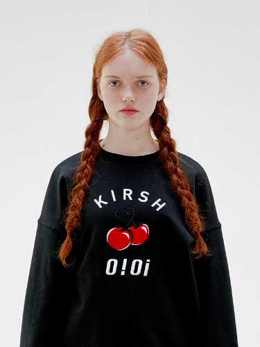 OIOI x KIRSH BIG LOGO SWEATSHIRTS [BLACK]