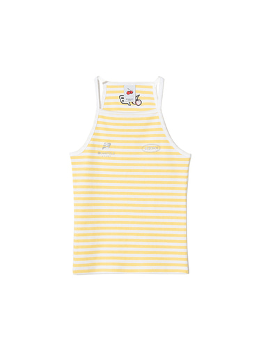 [BPS X KIRSH] STRIPE HALTER NECK [YELLOW]