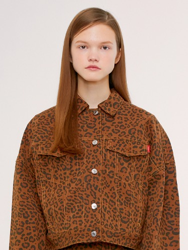 TRUCKER JACKET IS [LEOPRAD]