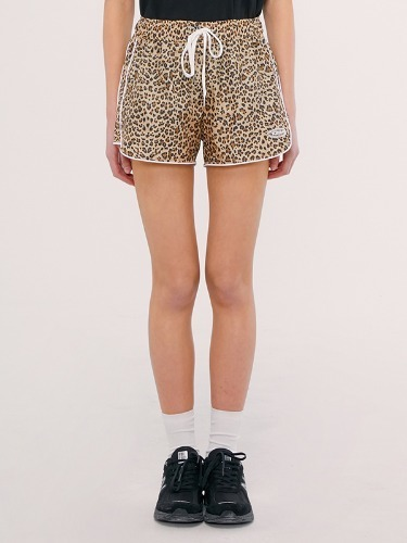 TRACK SHORT IS [LEOPARD]