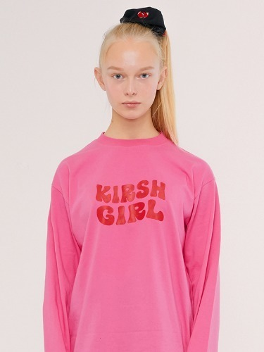 KIRSH GIRL LOGO TEE IS [PINK]