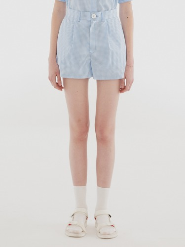 GINGHAM SHORTS IH [BLUE]