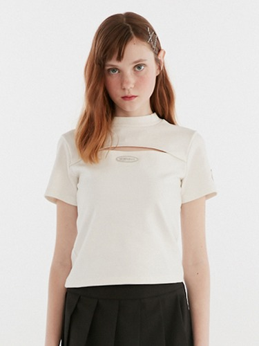 SLIT POINT TEE IH [WHITE]