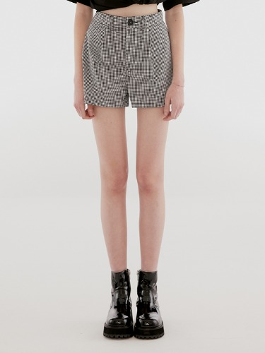 GINGHAM SHORTS IH [BLACK]