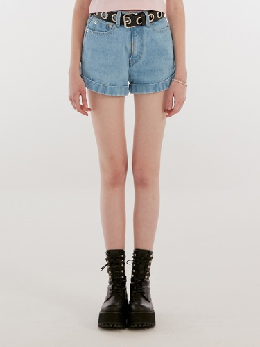 ROLLUP SHORT PANTS IH [BLUE]