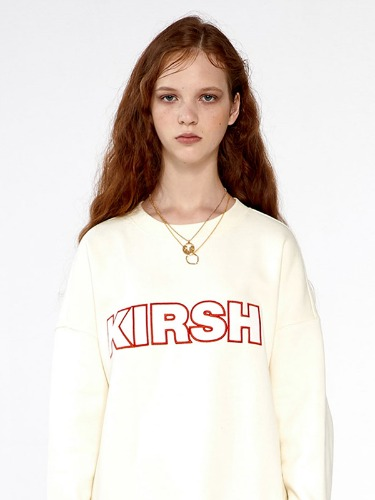 KIRSH STITCH LOGO SWEATSHIRTS  IA [IVORY]