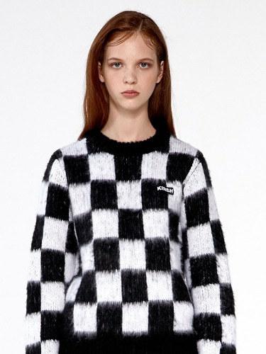 CHECKERED KNIT IA [BLACK]