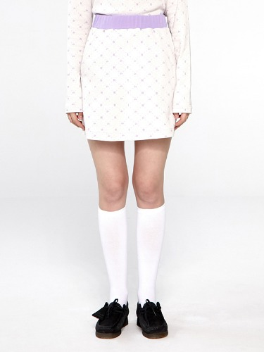 LOGO PATTERN SKIRT IA [CREAM]