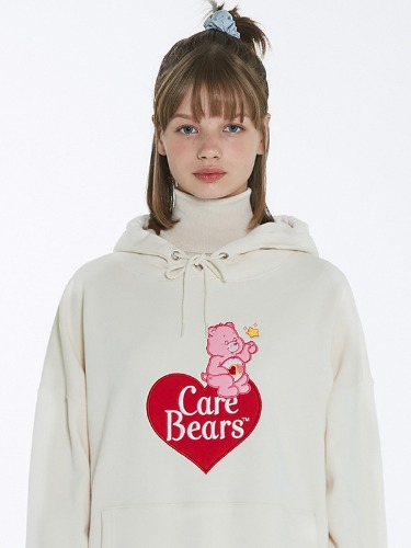 CARE BEAR HEART-BALLOON HOOD [CREAM]