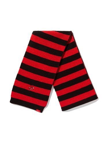 CHRISTMAS STRIPE MUFFLER IA [BLACK]