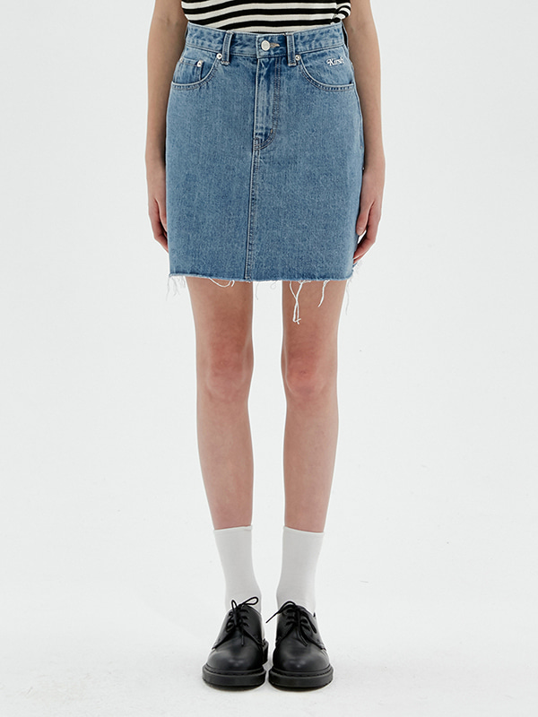 KIRSH DENIM SKIRT JS [LIGHT BLUE]