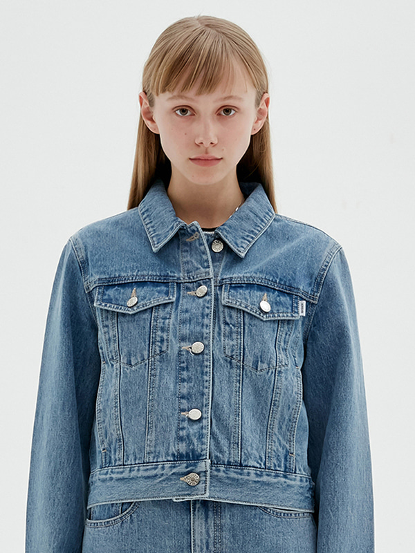 KIRSH DENIM TRUCKER JACKET JS [LIGHT BLUE]