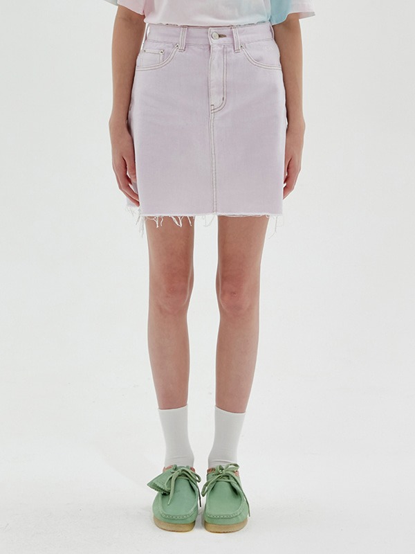 KIRSH DENIM SKIRT JS [LIGHT PINK]