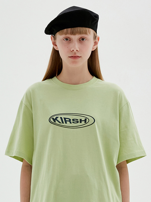 KIRSH CIRCLE LOGO T-SHIRTS JS [LIGHT GREEN]