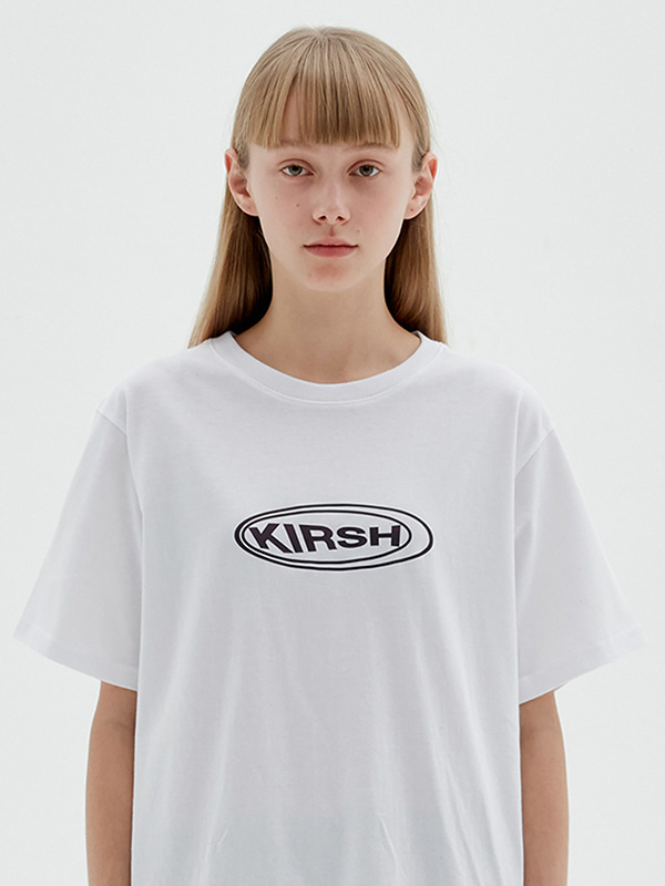 KIRSH CIRCLE LOGO T-SHIRTS JS [WHITE]