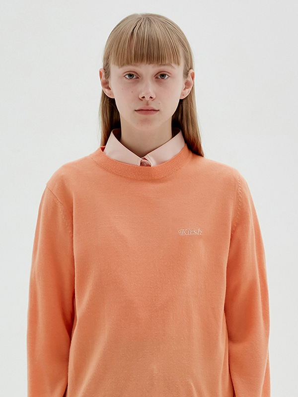 KIRSH ROUND NECK KNIT JS [LIGHT ORANGE]