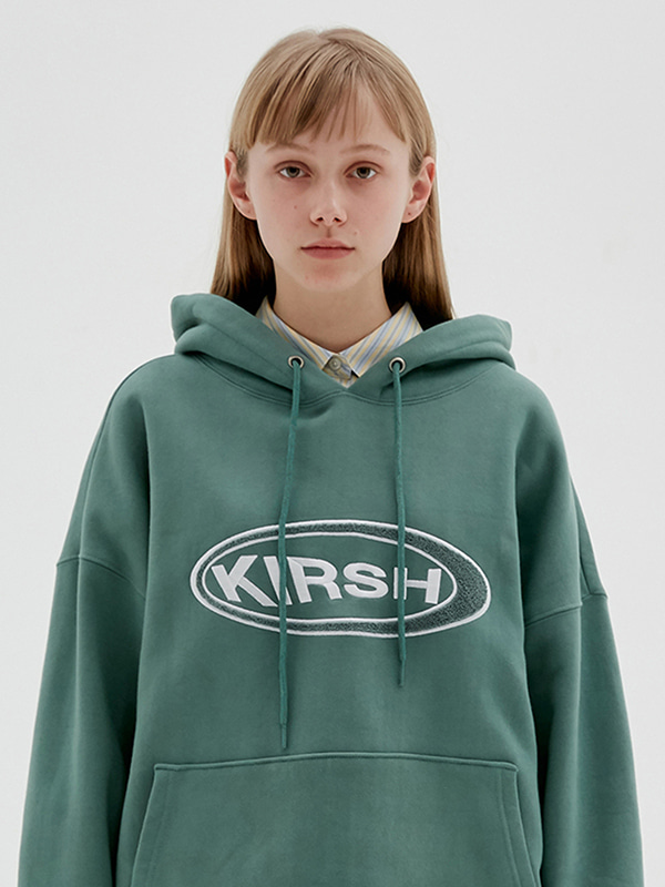 KIRSH CIRCLE LOGO HOODIE JS [BLUE GREEN]
