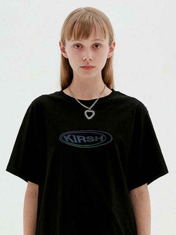 KIRSH CIRCLE LOGO T-SHIRTS JS [BLACK]