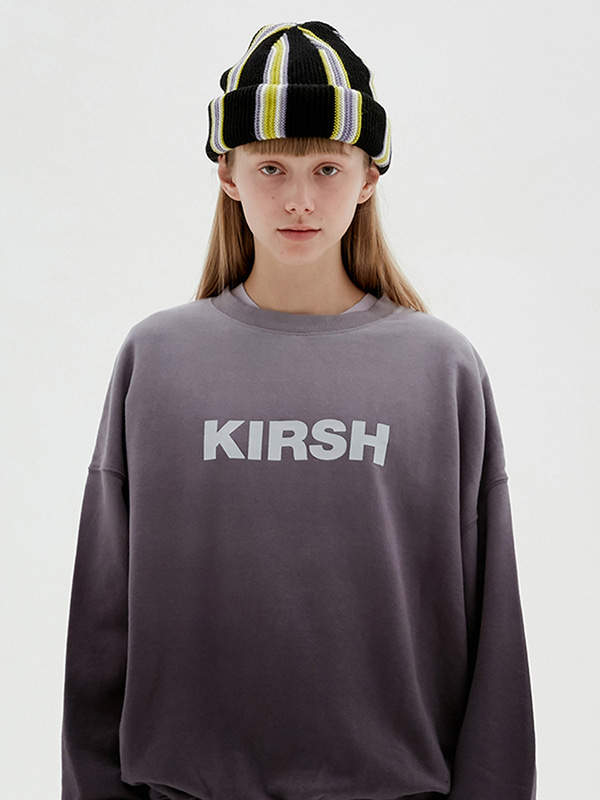 KIRSH LOGO GRADATION SWEATSHIRT JS [CHARCOAL GRAY]
