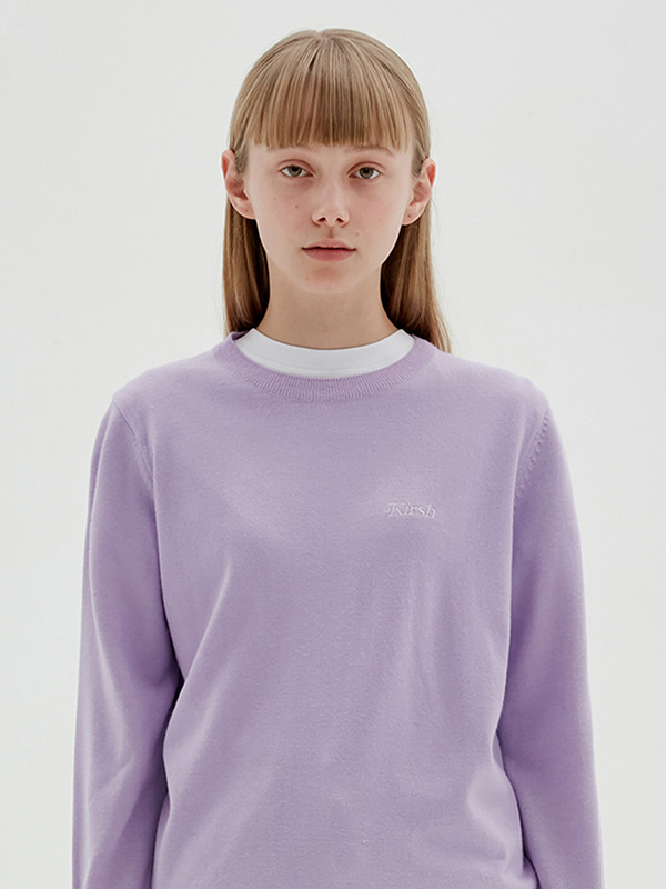 KIRSH ROUND NECK KNIT JS [LIGHT VIOLET]