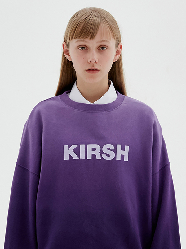 KIRSH LOGO GRADATION SWEATSHIRT JS [PURPLE]