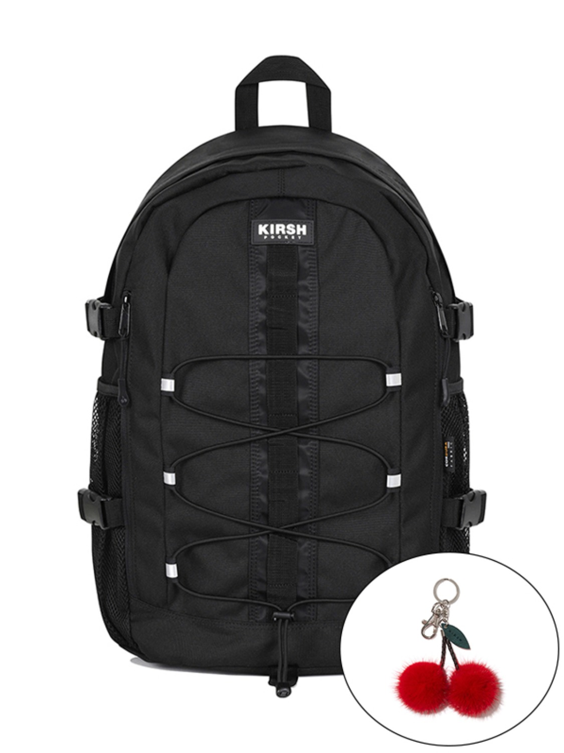 KIRSH POCKET STRING BACKPACK KS [BLACK]