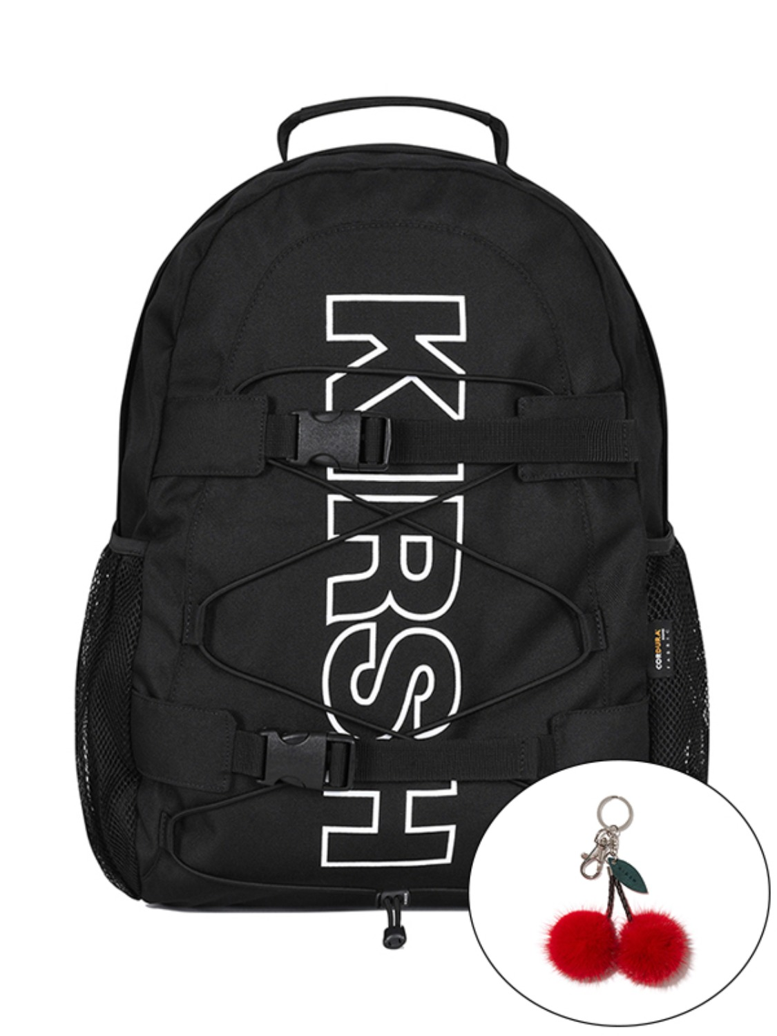 KIRSH POCKET LOGO SPORTS BACKPACK KS [BLACK]