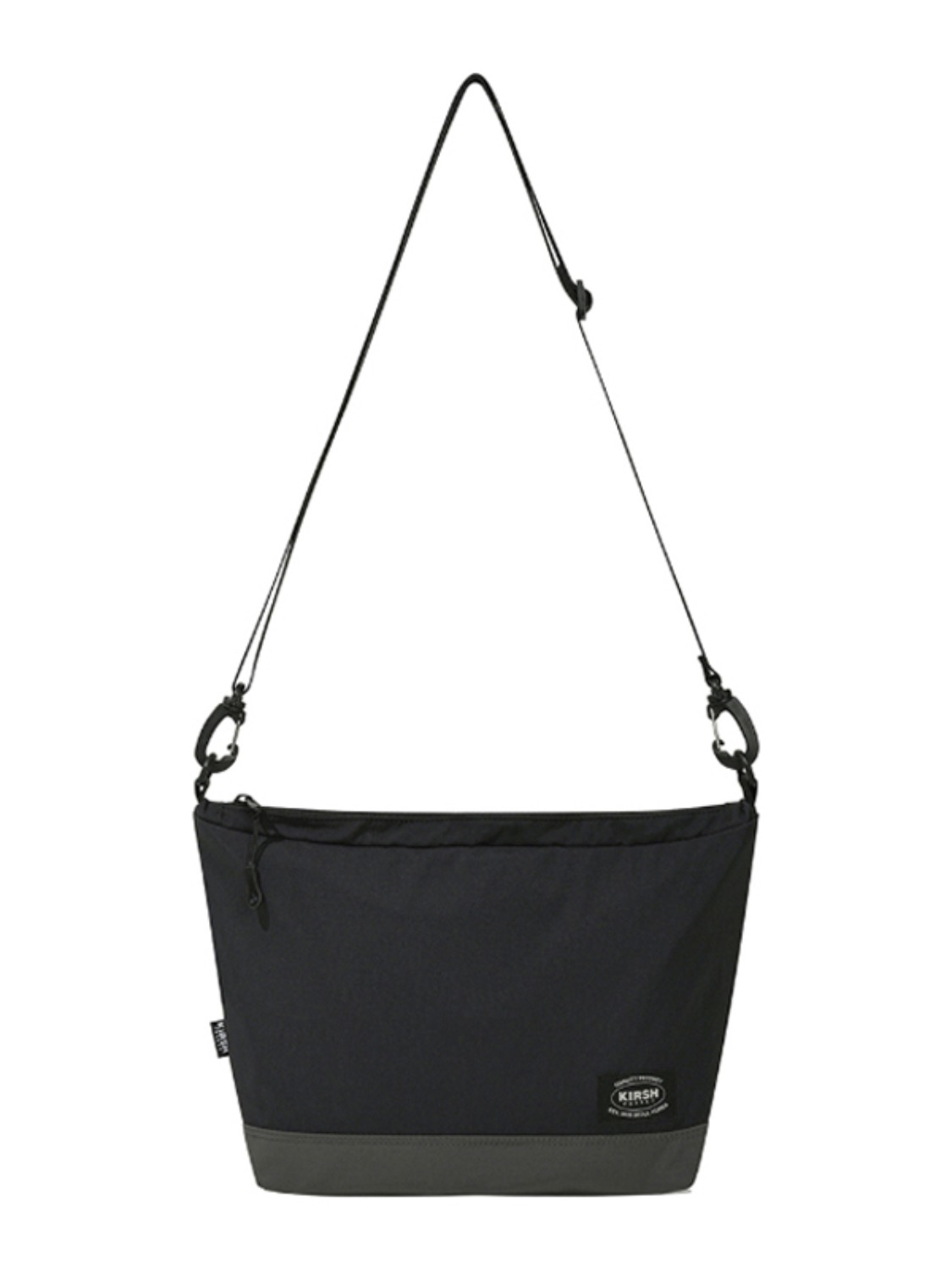 KIRSH POCKET NYLON CROSS BAG KS [BLACK]