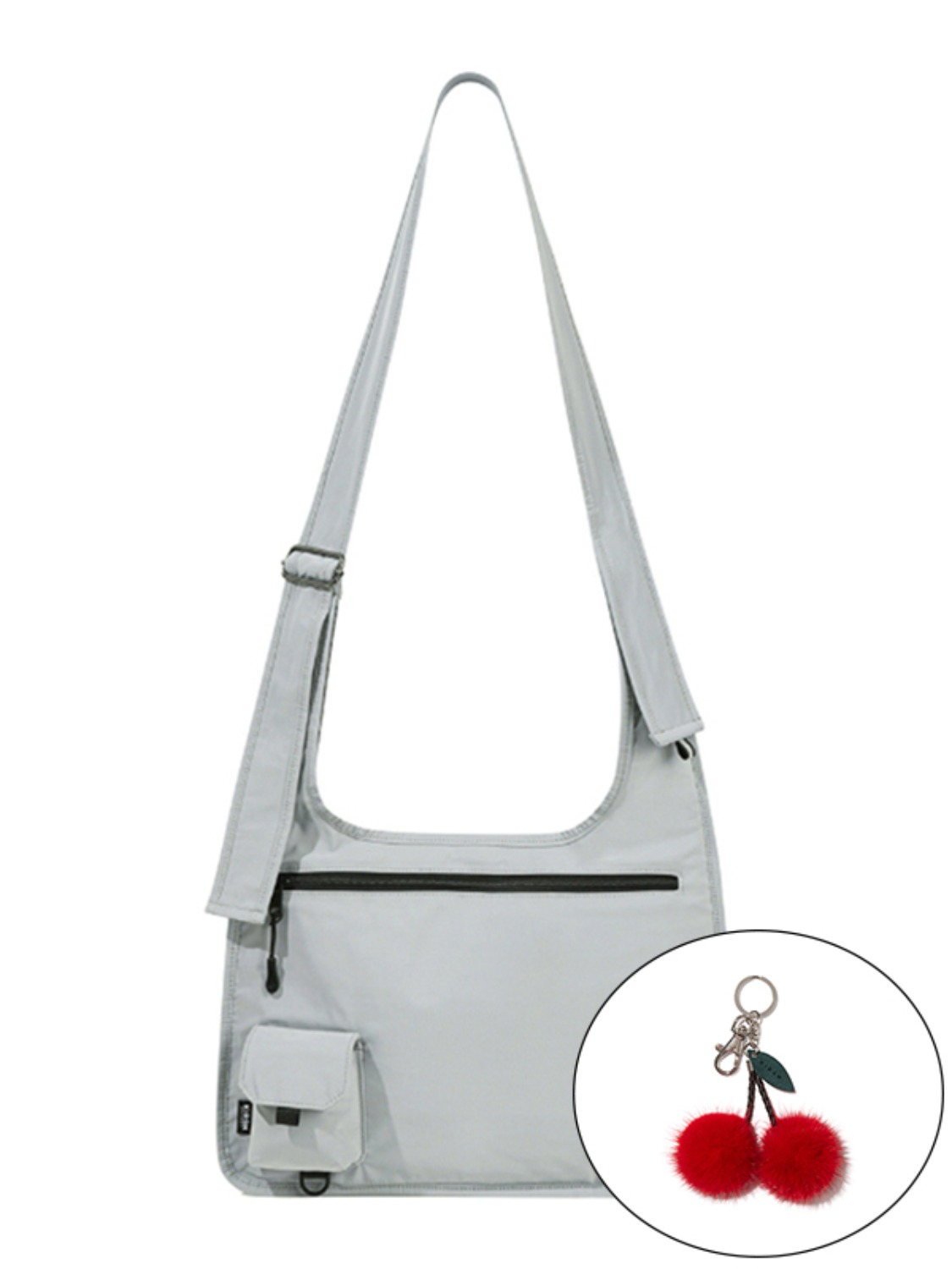KIRSH POCKET LOGO CROSSBODY BAG KS [LIGHT GREY]